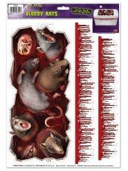 Pegatinas ratas monstruosas y manchas de sangre 3 piezas