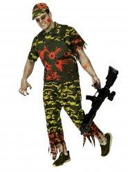 Disfraz soldado zombie Halloween camuflaje hombre