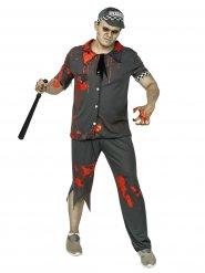 Disfraz zombie policía hombre gris Halloween