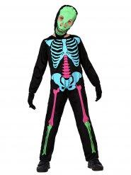 Disfraz esqueleto multicolor niño Halloween