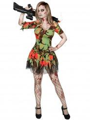 Disfraz militar zombie mujer Halloween