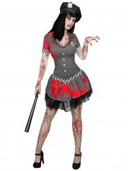 Disfraz oficial policia zombie mujer Halloween