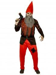 Disfraz de gnomo de jardín terrorífico hombre Halloween