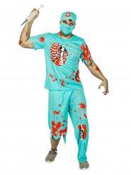 Disfraz de médico zombie hombre Halloween