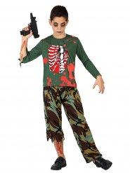 Disfraz de soldado zombie para niño