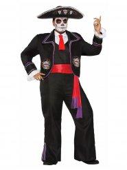 Disfraz Día de los muertos talla grande hombre