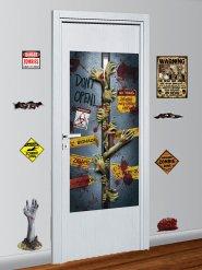 Lote de 9 decoraciones muro zombie Halloween