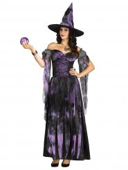 Disfraz de bruja violeta para mujer Halloween