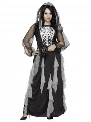 Disfraz de novia esqueleto mujer Halloween