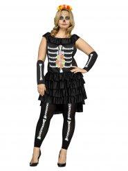 Disfraz esqueleto Día de los muertos mujer Halloween