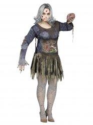 Disfraz de zombie talla grande mujer Halloween