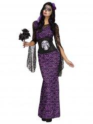 Disfraz de Halloween para mujer encaje calaveras