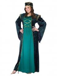 Disfraz dama medieval mujer verde