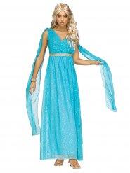 Disfraz diosa antigua azul mujer
