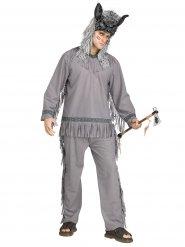 Disfraz indio cazador de lobos hombre