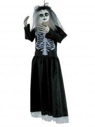 Muñeca esqueleto viuda Halloween 91 cm negro