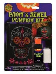 Pegatinas con brillantes y pintura para calabaza Halloween