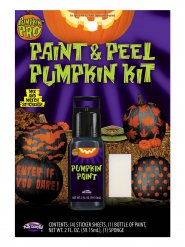Decoración Halloween autoadhesiva naranja y negra