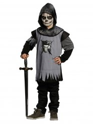 Disfraz caballero gótico negro gris niño