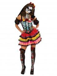 Disfraz Día de los muertos multicolor Halloween
