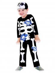 Disfraz de esqueleto murciélago violeta niño Halloween