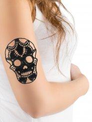 Tatuaje de encaje negro Halloween