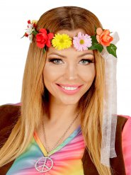 Corona de flores hippie