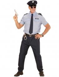 Disfraz policía azul hombre