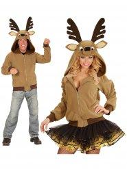 Chaqueta con capucha reno marrón