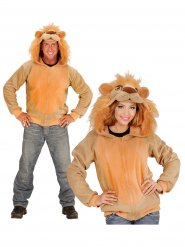 Chaqueta con capucha león adulto