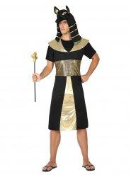 Disfraz de faraón egipto negro y dorado adulto