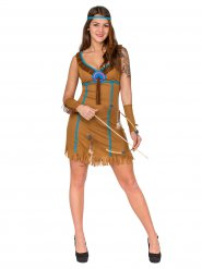 Disfraz india para mujer marrón