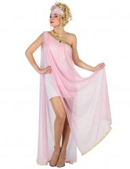 Disfraz de romana rosa claro mujer