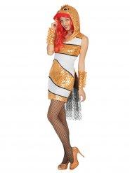 Disfraz pez payaso mujer