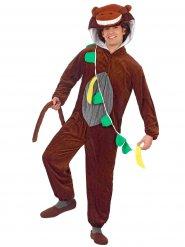 Disfraz de mono divertido marrón