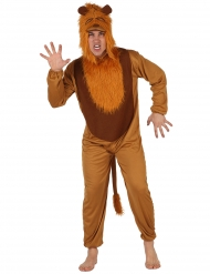 Disfraz de léon adulto naranja