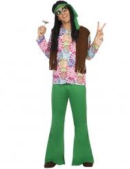 Disfraz de hippie verde hombre