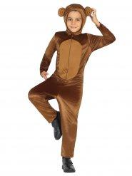 Disfraz mono marrón gracioso niño