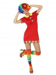 Disfraz payaso adorable circo mujer rojo