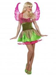Disfraz hada mágica mujer verde y rosa