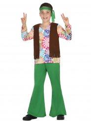 Disfraz hippie niño verde