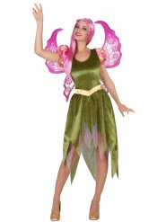 Disfraz elfo verde mujer