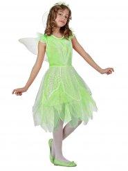 Disfraz de hada verde con cinta para niña