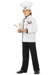 Disfraz jefe cocinero blanco niño