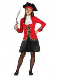 Disfraz pirata bucanero niña