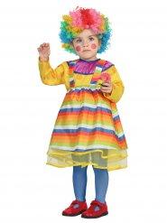 Disfraz payaso multicolor bebé