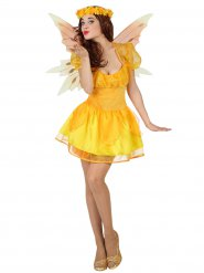 Disfraz de hada amarilla mujer
