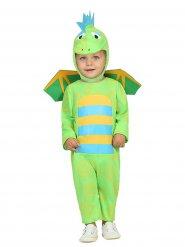 Disfraz de dinosaurio bebé verde