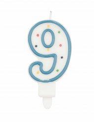 Vela número 9 multicolor 7.5 cm