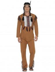 Disfraz indio con flecos para hombre